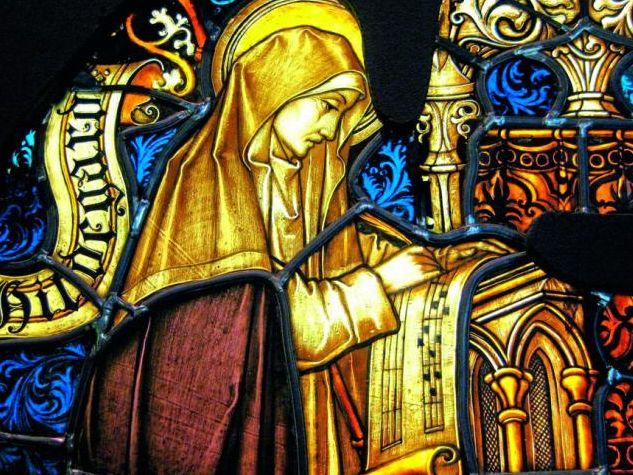 Die heilige Hildegard von Bingen, siehe Foto unten, ist als Vertreterin der katholischen Tradition von der wichtigen Rolle der Musik überzeugt.