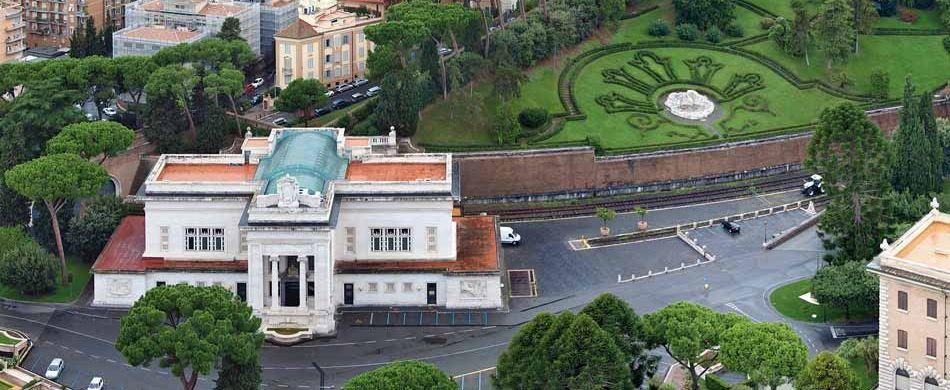 Zum Vatikan gehört auch ein nur selten genutzter Bahnhof, in dem sich seit 2003 auch ein kleines Kaufhaus befindet. Foto: Staselnik /Wikipedia